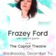 Frazey Ford - Live At The Capitol Theatre - Nelson BC - December 7 2016